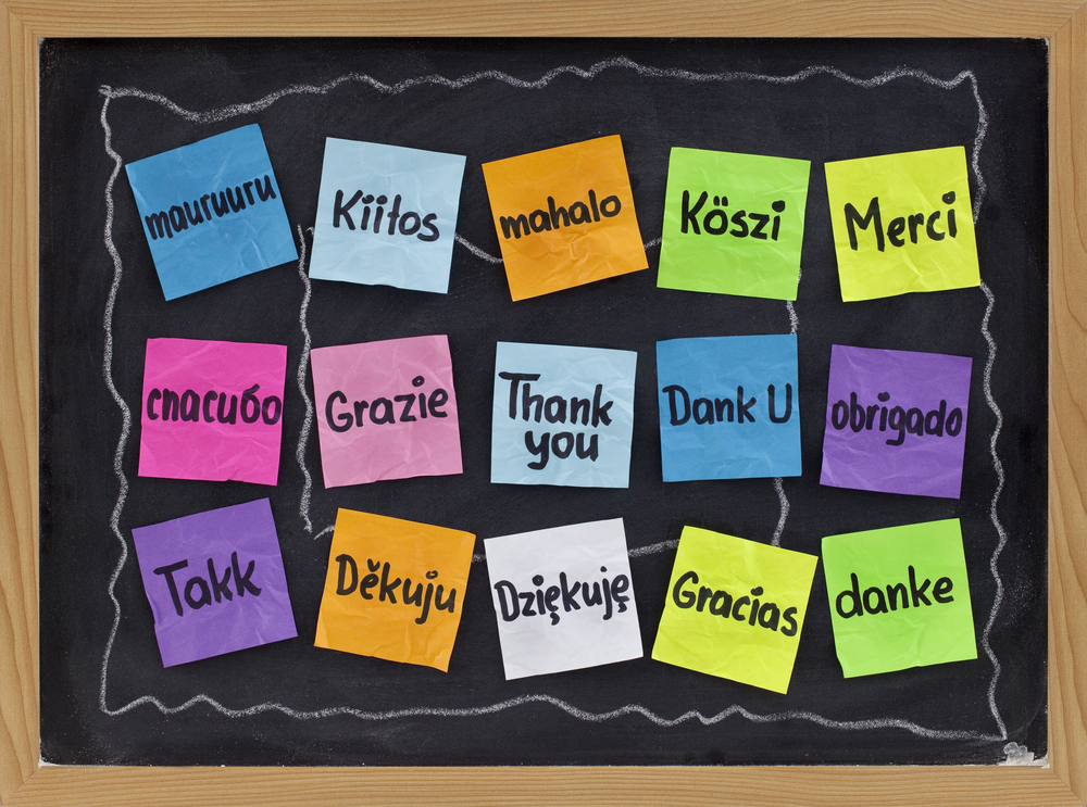 Thank You in 15 languages